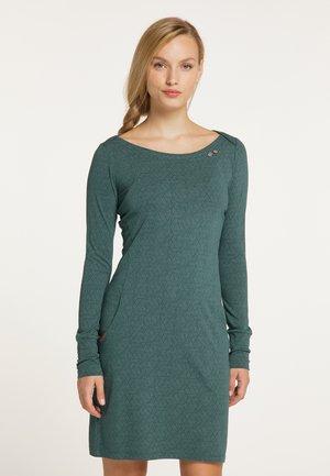 Shift dress - dark green