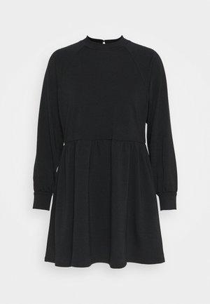 HIGH NECK RAGLAN DRESS - Kjole - black
