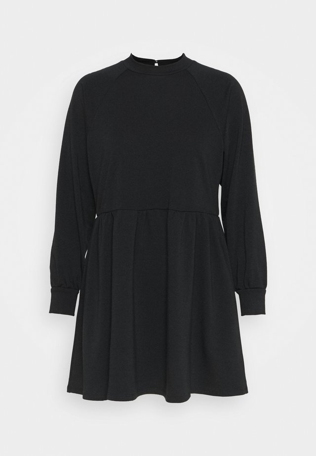 HIGH NECK RAGLAN DRESS - Kjole - black