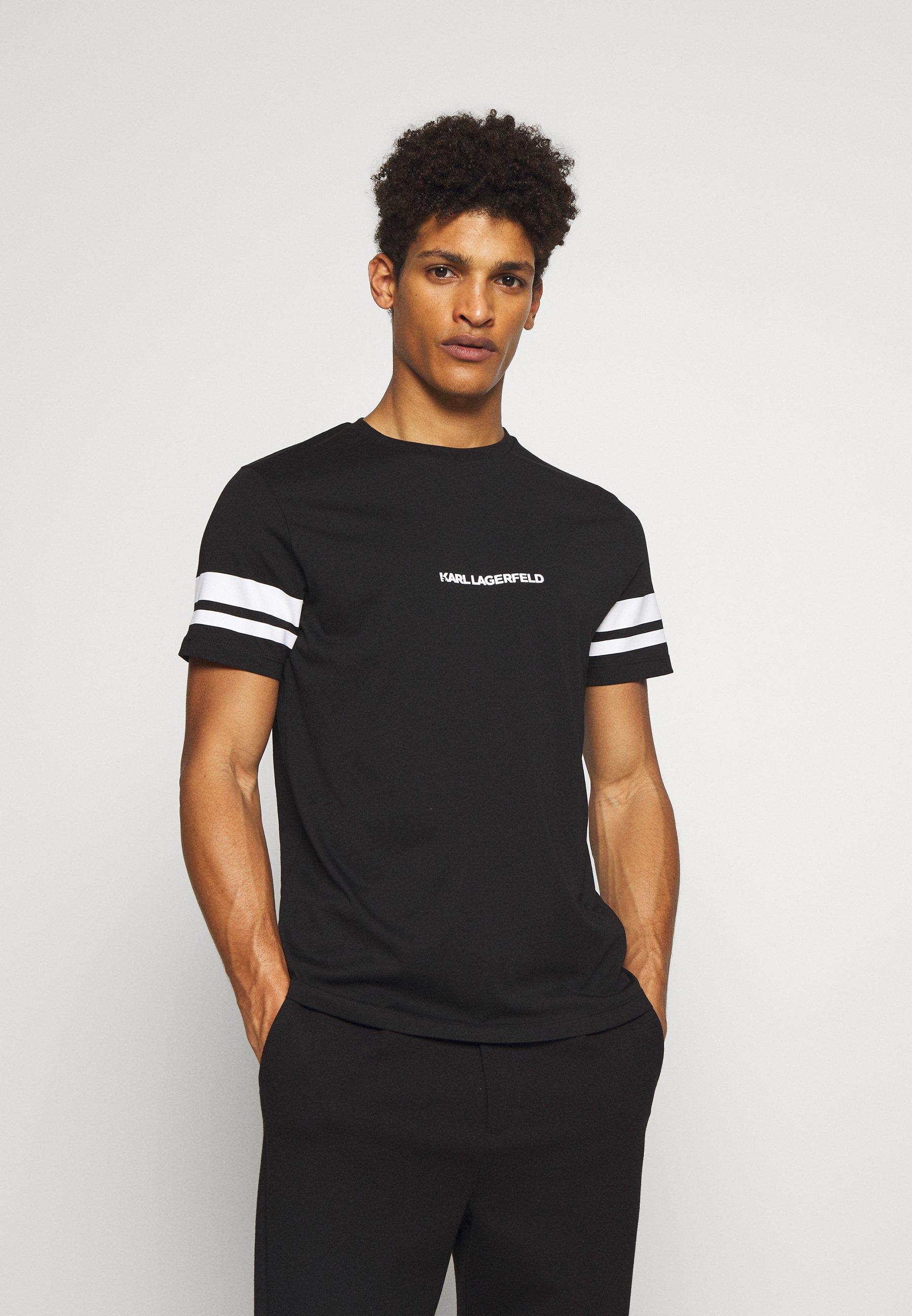 Najtańsze Gorąca wyprzedaż KARL LAGERFELD CREWNECK - T-shirt z nadrukiem - black | Odzież męska 2020 a2DBH