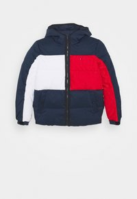 Tommy Hilfiger - FLAG HOODED JACKET - Winter jacket - blue - 0