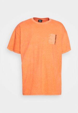 PLANETS TEE UNISEX - Print T-shirt - orange