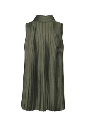 PLEAT BLOUSE SOFT - Blouse - green