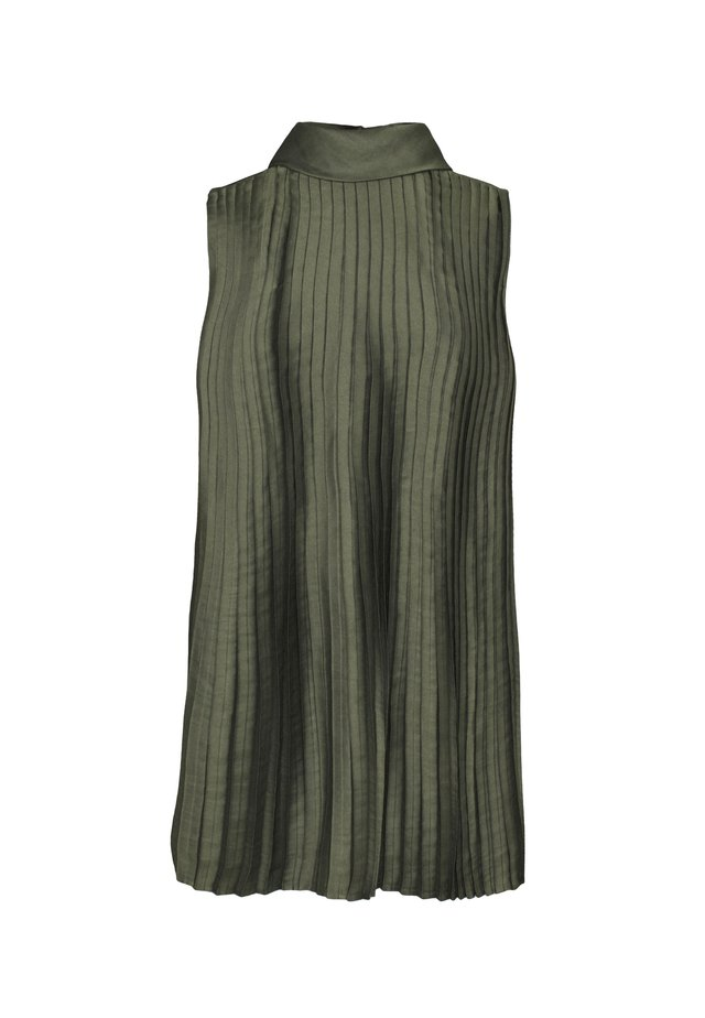 PLEAT BLOUSE SOFT - Bluser - green