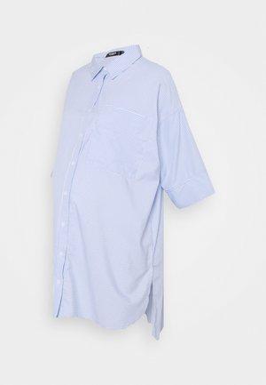 MATERNITY CROP DRESS - Shirt dress - blue