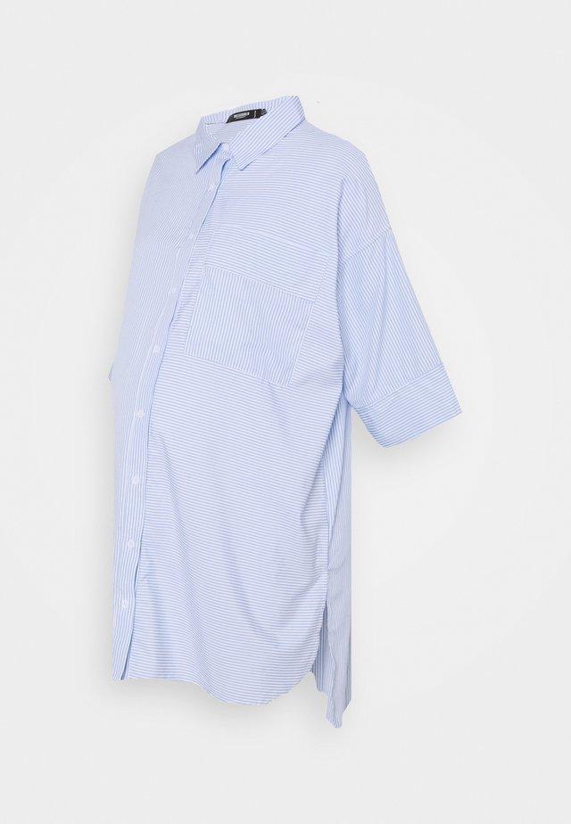 MATERNITY CROP DRESS - Abito a camicia - blue