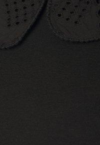 Simply Be - PETER PAN COLLAR TEE - T-shirts - black - 2