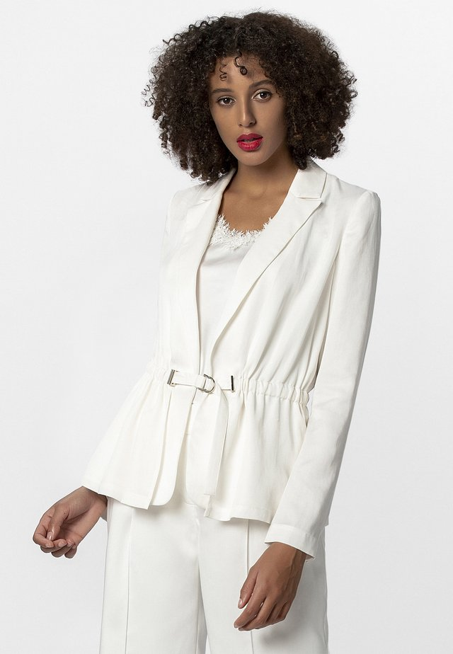 WITH BELT - Blazer - cream