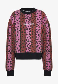 House of Holland - NEON STRIPE CHEETAH - Sweatshirt - pink multi