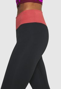 Nike Performance - ONE LUXE - Tights - black/canyon rust - 4