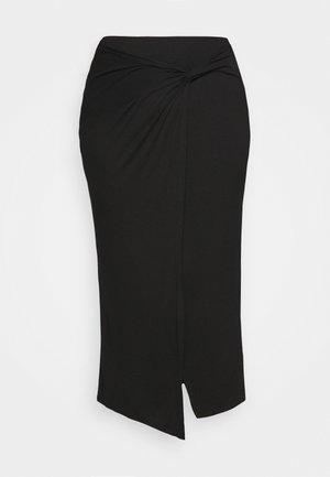 WRAP MIDAXI SKIRT - Pouzdrová sukně - black