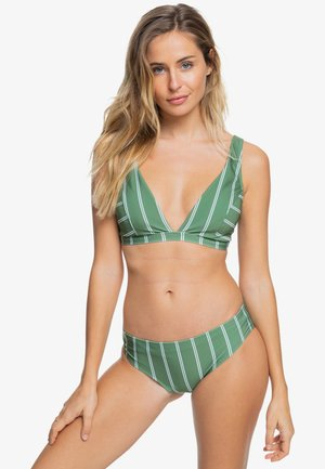 Bikini top - vineyard green will stripes