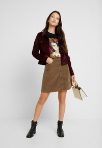 Noisy May - Mini skirt - tobacco brown - 1