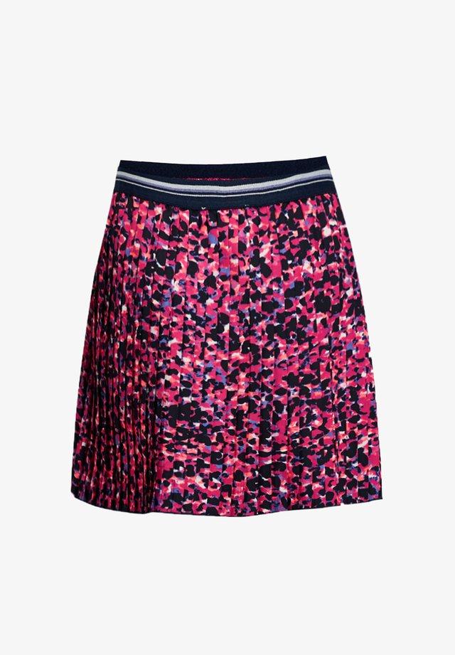 MET LUIPAARDDESSIN - A-snit nederdel/ A-formede nederdele - fuchsia