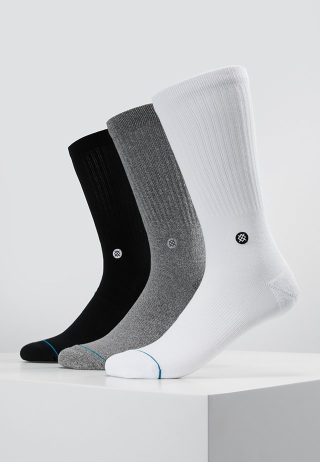 ICON 3 PACK - Chaussettes - white/grey/black