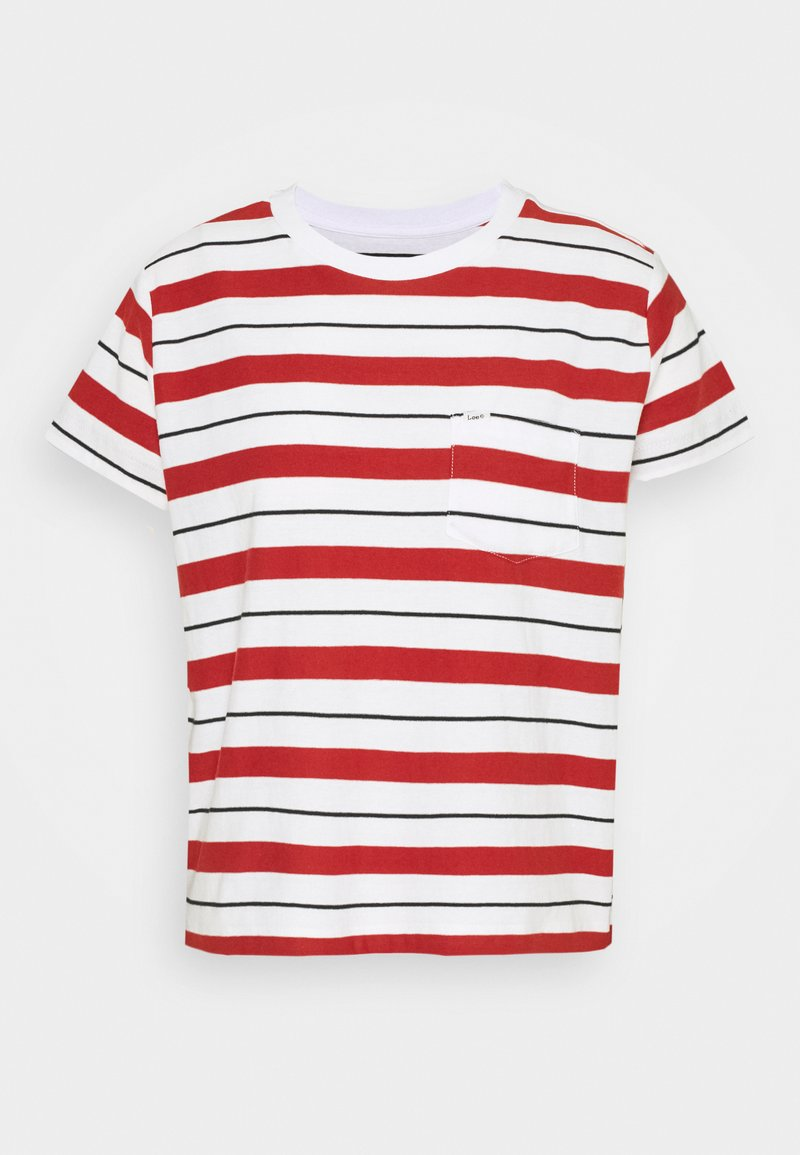 Lee - RELAXED POCKET TEE - Print T-shirt - red ochre