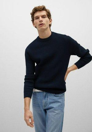 TEXAS - Stickad tröja - dunkles marineblau