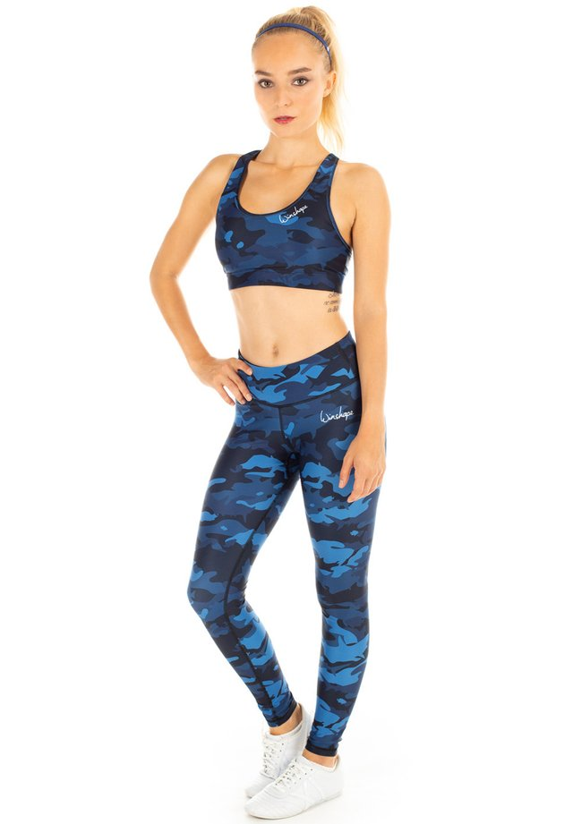 FUNCTIONAL POWER SHAPE - Collants - camo blue