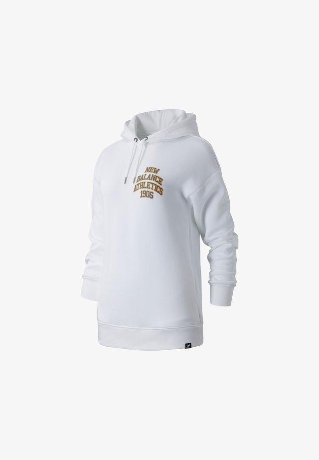 NB ATHLETICS VARSITY - Bluza z kapturem - white