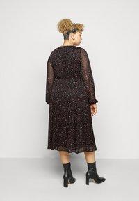 Evans - PRINTED HANKY HEM DRESS - Day dress - black - 2