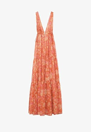 Vestido largo - orange