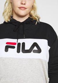 Fila Plus - LORI HOODY - Hoodie - black/light grey melange/bright white - 3