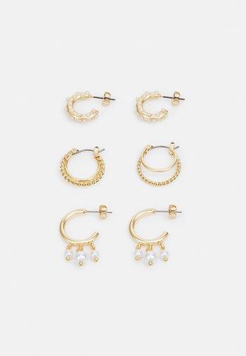EARRINGS 3 PACK  - Earrings - gold-coloured