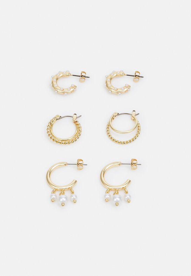 EARRINGS 3 PACK  - Øreringe - gold-coloured