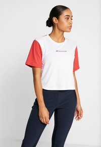 Tommy Sport - BOXY SHORT SLEEVE - Camiseta estampada - red - 0