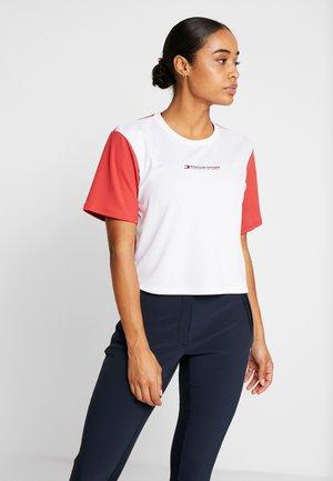 BOXY SHORT SLEEVE - Camiseta estampada - red