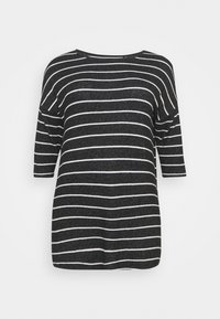 CAPSULE by Simply Be - SOFT TOUCH SIDE POCKET - Long sleeved top - charcoal - 5