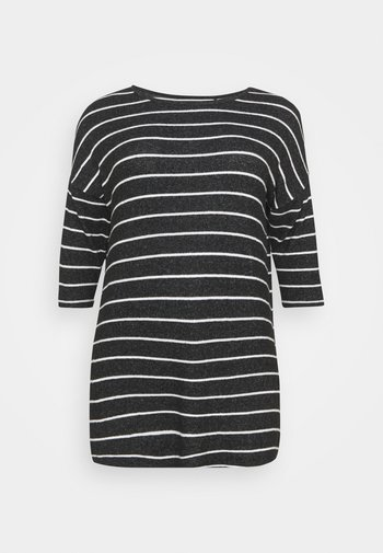 SOFT TOUCH SIDE POCKET - Long sleeved top - charcoal