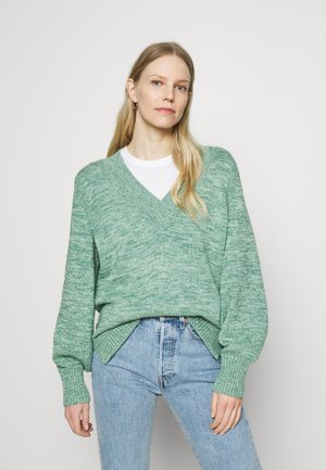 CROSSOVER V NECK - Strikkegenser - endive green