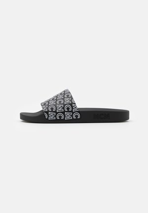 DIAGONAL LOGO SLIDE - Mules - black