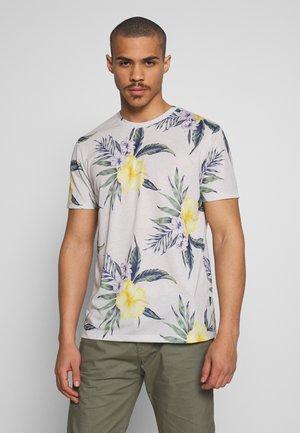 FLORAL - T-shirts med print - light grey melange