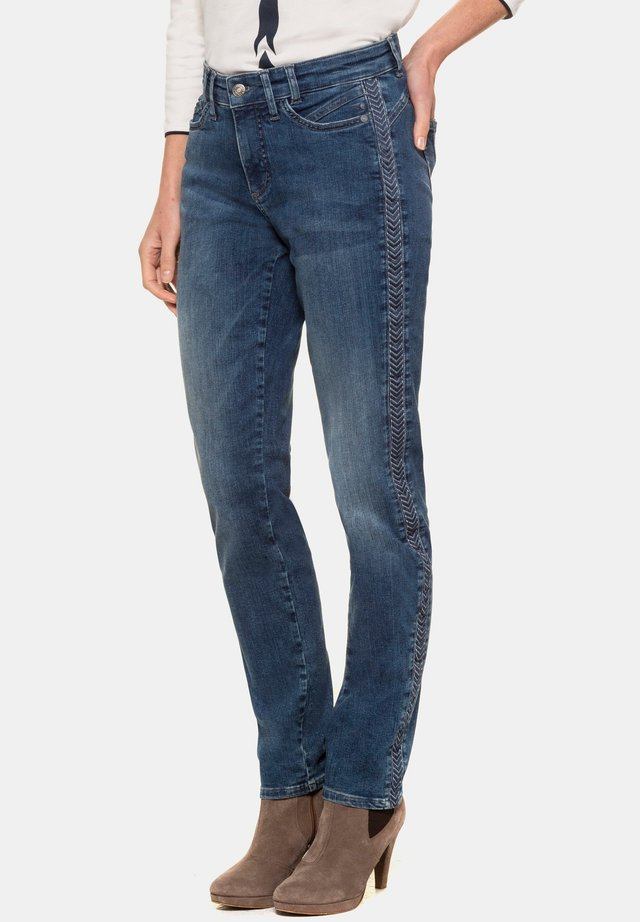 TINA - Straight leg jeans - blue denim