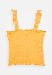 New Look 915 Generation - SHIRRED FRILL - Top - dark yellow - 1