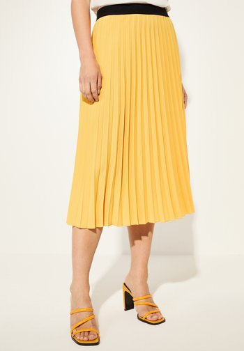 Pleated skirt - yellow