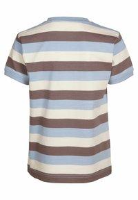 Elkline - Print T-shirt - lightblue-brown - 1