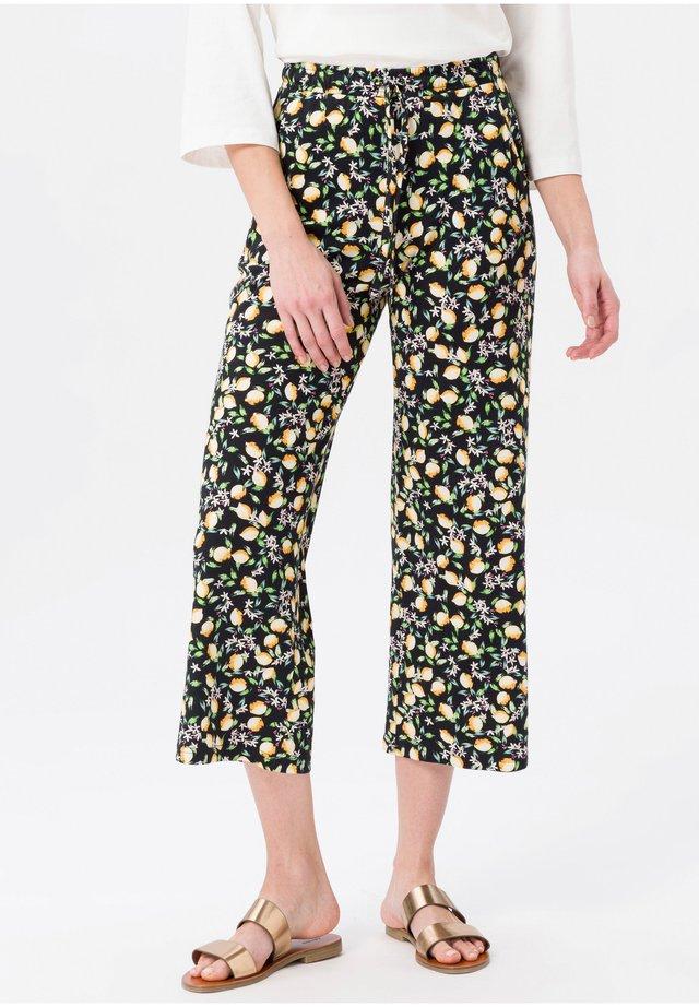 Pantalon classique - schwarz/gelb/multicolor