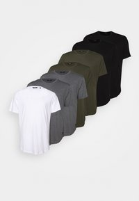 Only & Sons - ONSMATT LONGY TEE 7 PACK  - Basic T-shirt - black/white /forest - 7