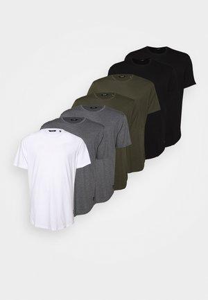 ONSMATT LONGY TEE 7 PACK  - Basic T-shirt - black/white /forest