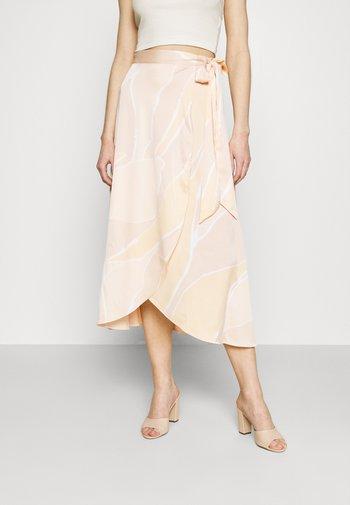 ANNA SKIRT - Wrap skirt - yellow arty