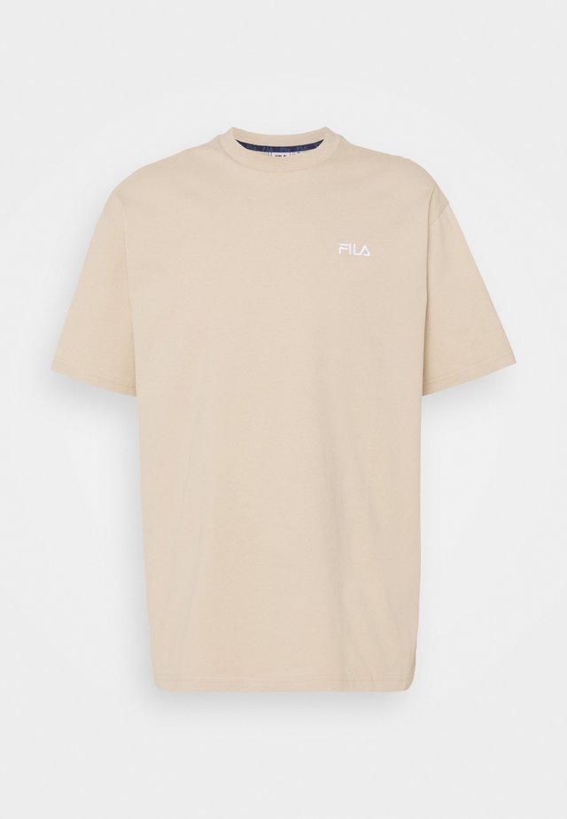 FONDA DROPPED SHOULDER TEE - T-shirt basic - oxford tan