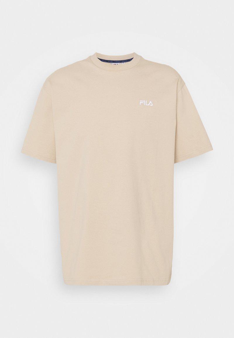 Fila - FONDA DROPPED SHOULDER TEE - Camiseta básica - oxford tan