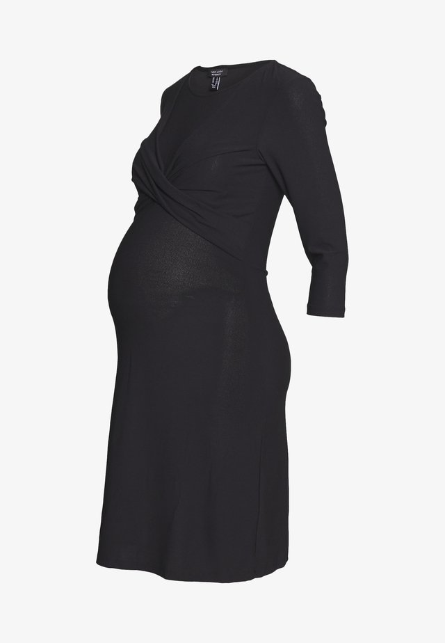 LESS TWIST FRONT BODYCON - Robe en jersey - black
