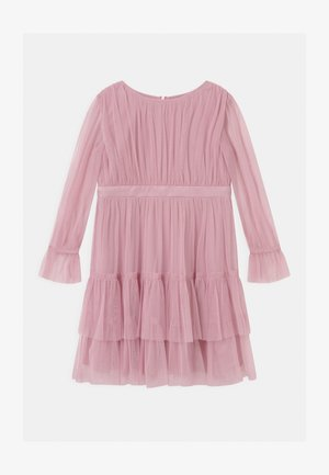 BISHOP SLEEVE RUFFLE DETAIL - Vestito elegante - aurora pink