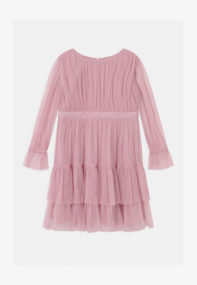 BISHOP SLEEVE RUFFLE DETAIL - Cocktail dress / Party dress - aurora pink