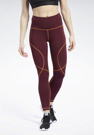 MYT CONTRAST STITCH LEGGINGS - Leggings - burgundy