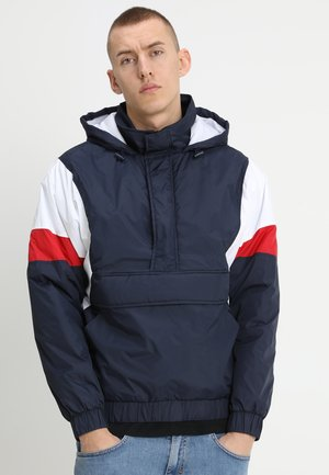 3-TONE PULL OVER  - Light jacket - navy/white/fire red